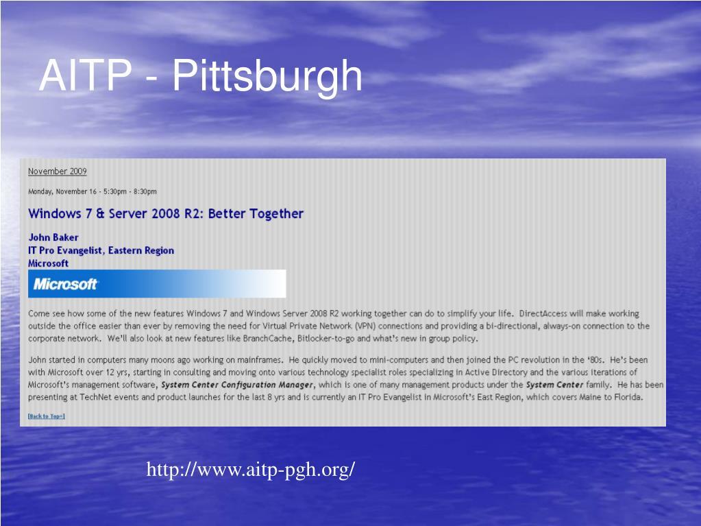 AITP - Pittsburgh
