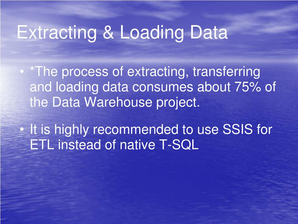 Extracting & Loading Data
