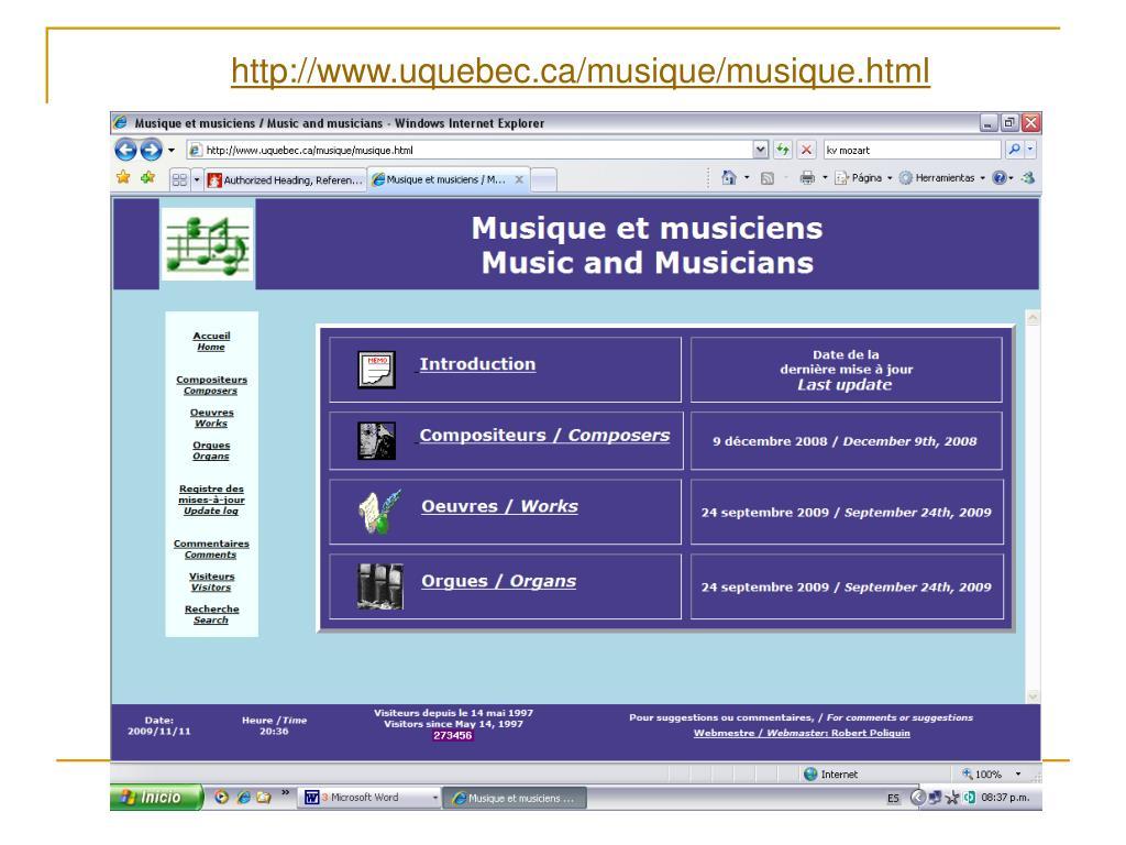 http://www.uquebec.ca/musique/musique.html