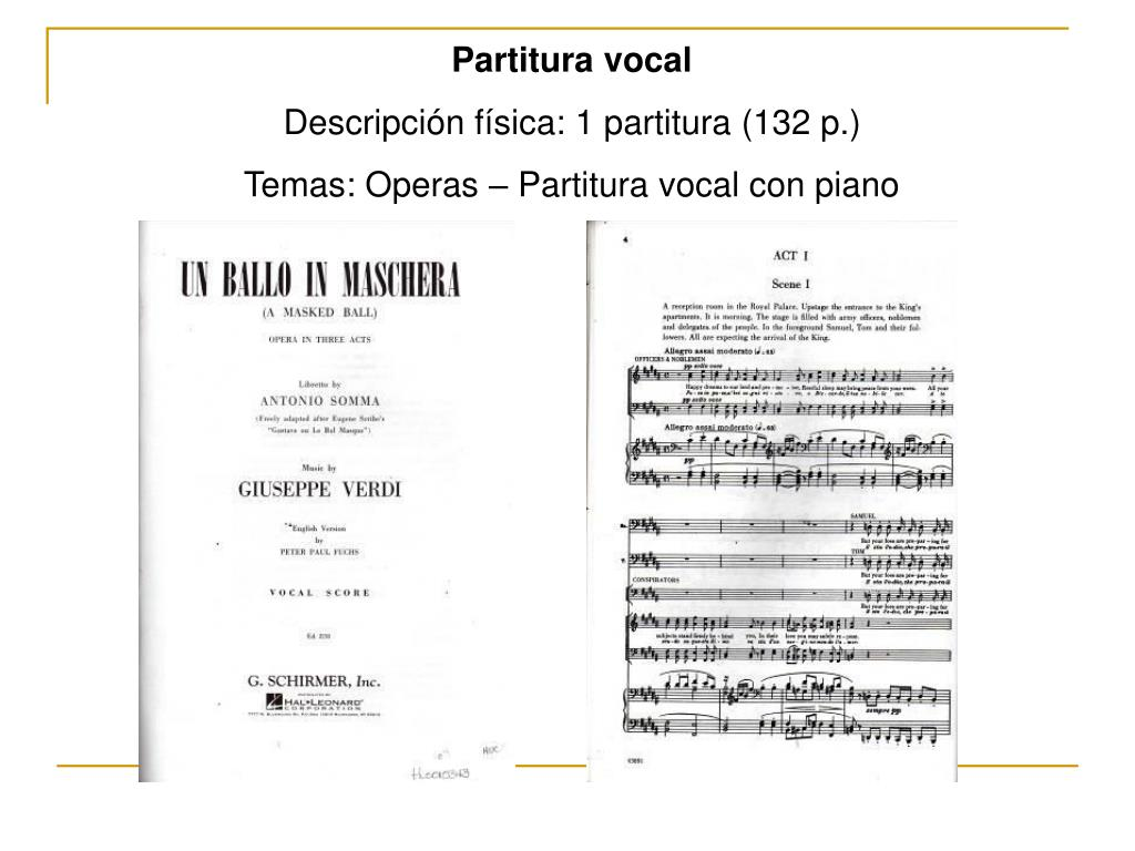 Partitura vocal