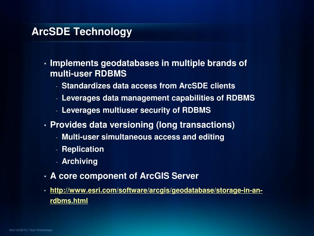 ArcSDE Technology