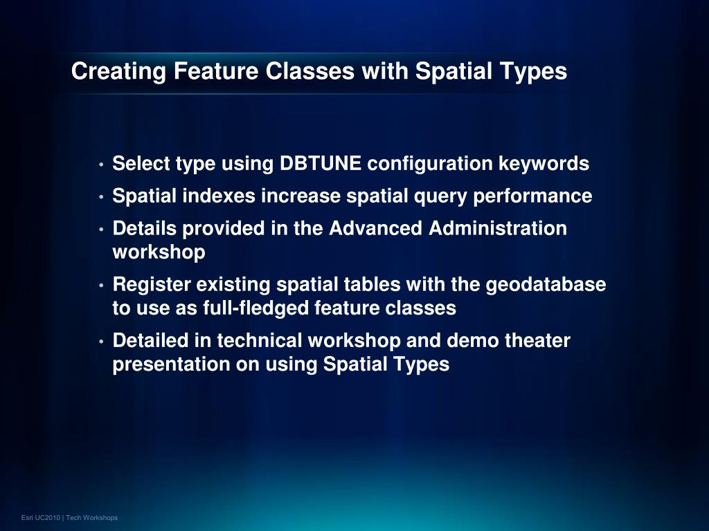 Creating Feature Classes with Spatial Types