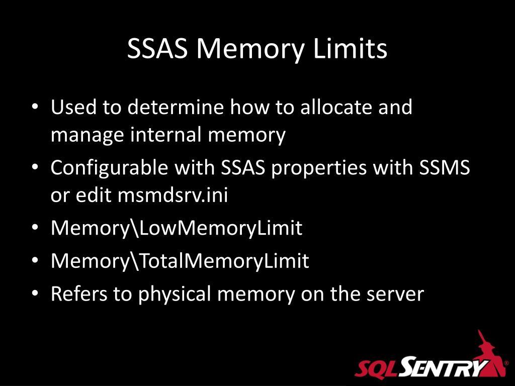 SSAS Memory Limits