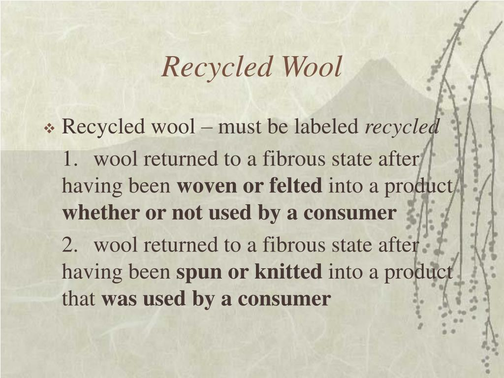 Recycled Wool