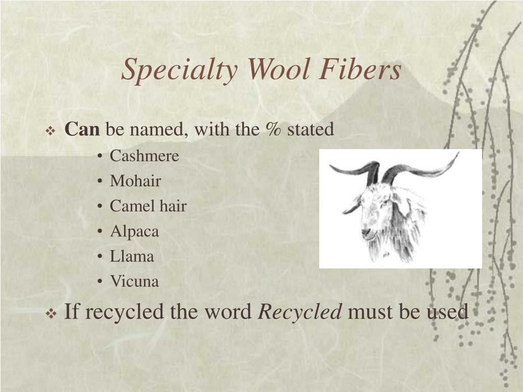 Specialty Wool Fibers