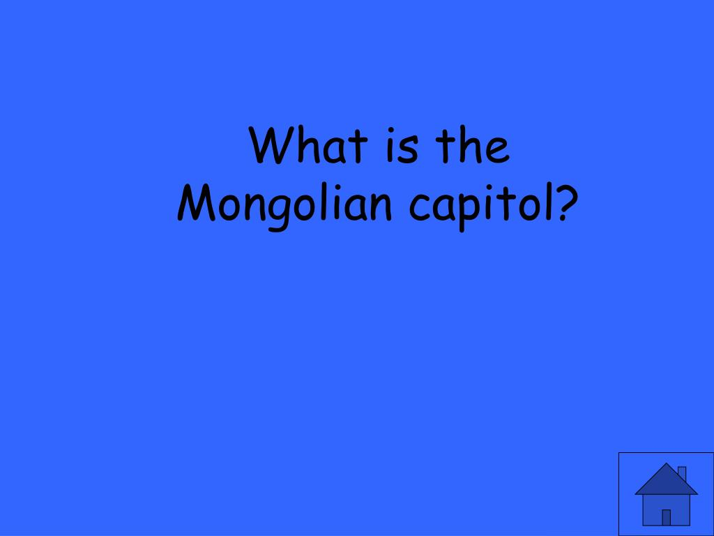 What is the Mongolian capitol?