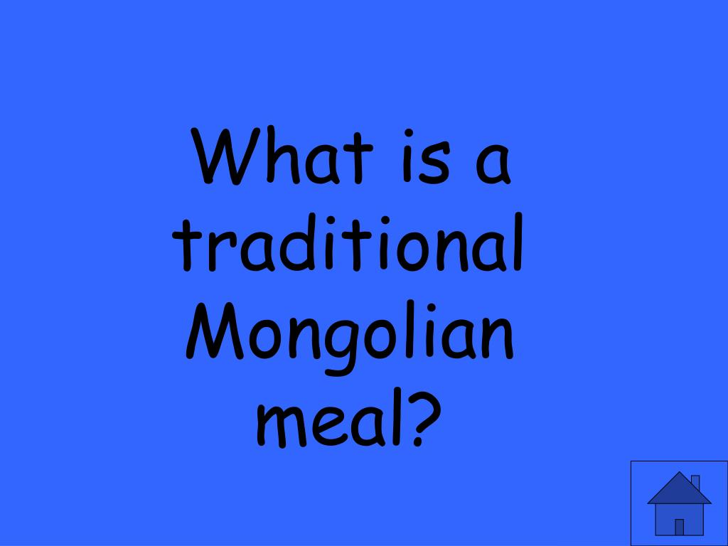 What is a traditional Mongolian meal?