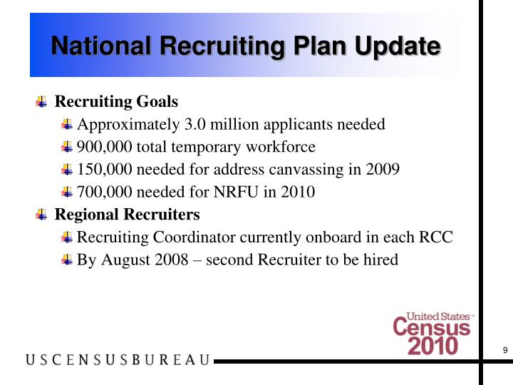 National Recruiting Plan Update
