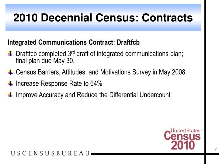 2010 Decennial Census: Contracts