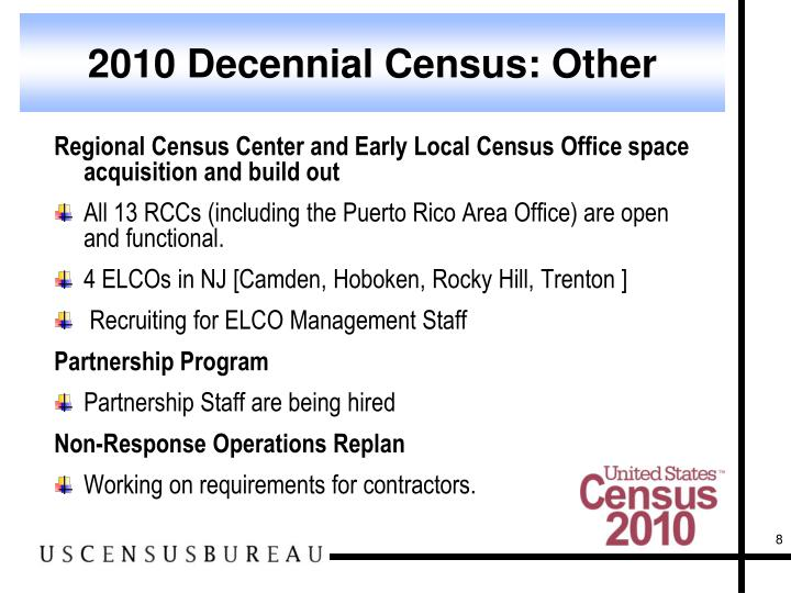2010 Decennial Census: Other