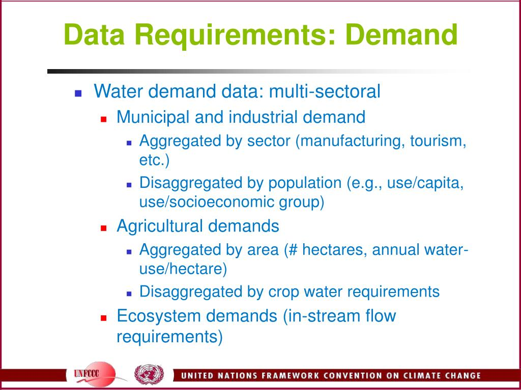 Data Requirements: Demand