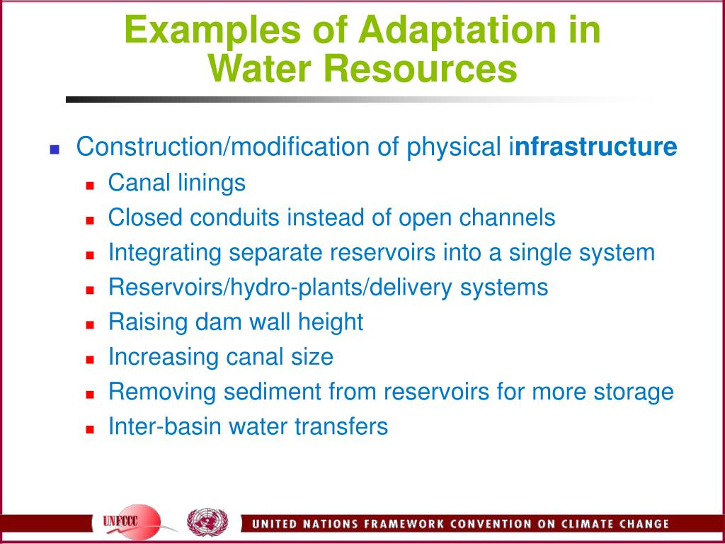 Examples of Adaptation in Water Resources