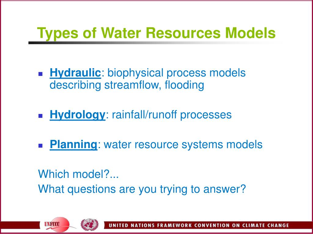Types of Water Resources Models