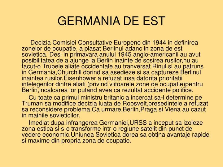 GERMANIA DE EST
