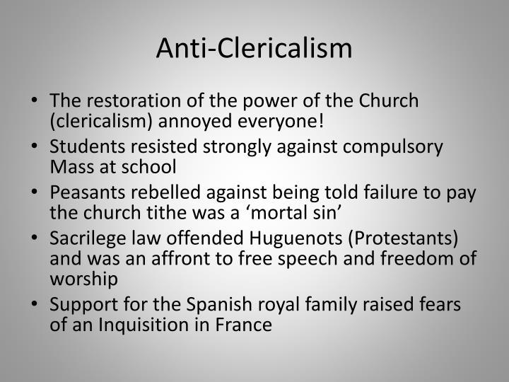 Anti-Clericalism