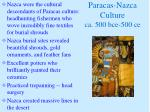 paracas nazca culture ca 500 bce 500 ce