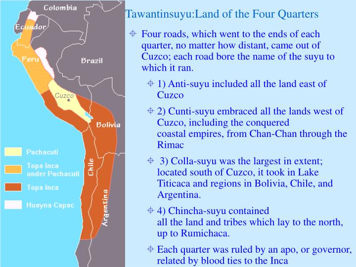 Tawantinsuyu:Land of the Four Quarters
