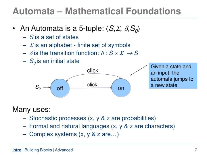 Automata – Mathematical Foundations