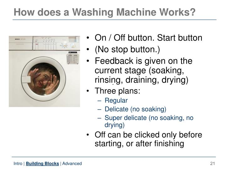 How does a Washing Machine Works?