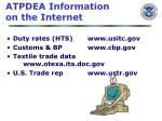 atpdea information on the internet
