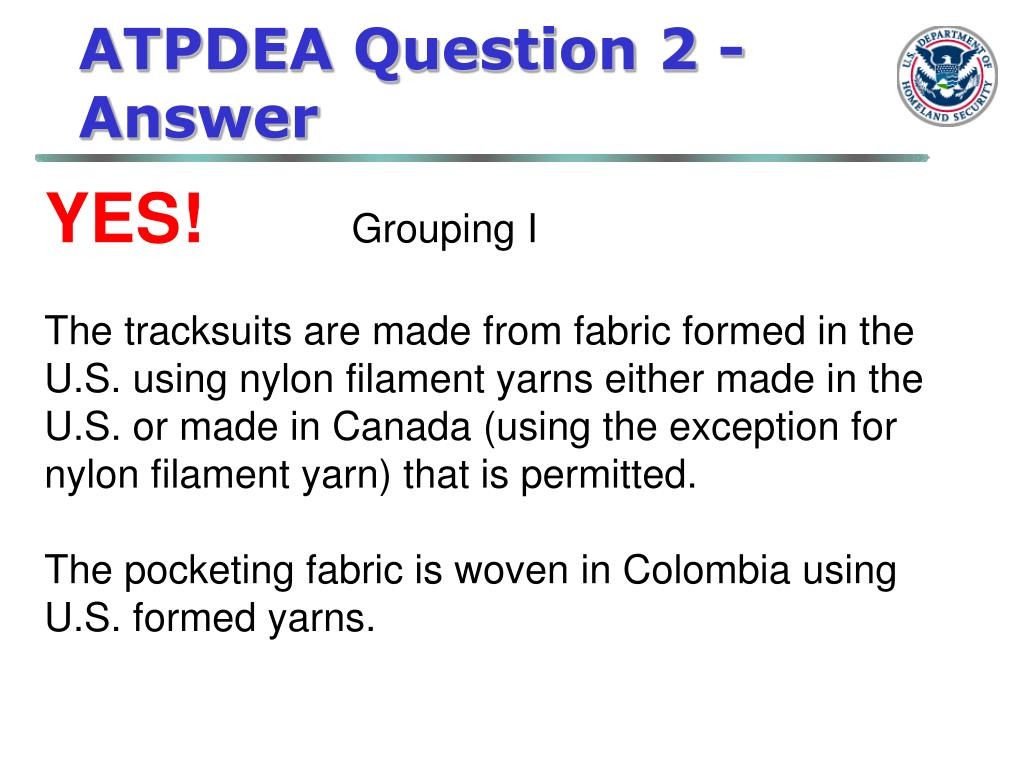 ATPDEA Question 2 - Answer
