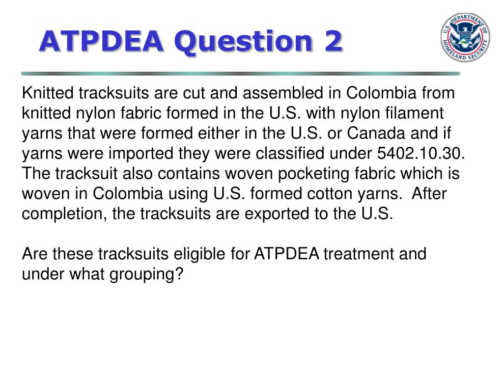 ATPDEA Question 2