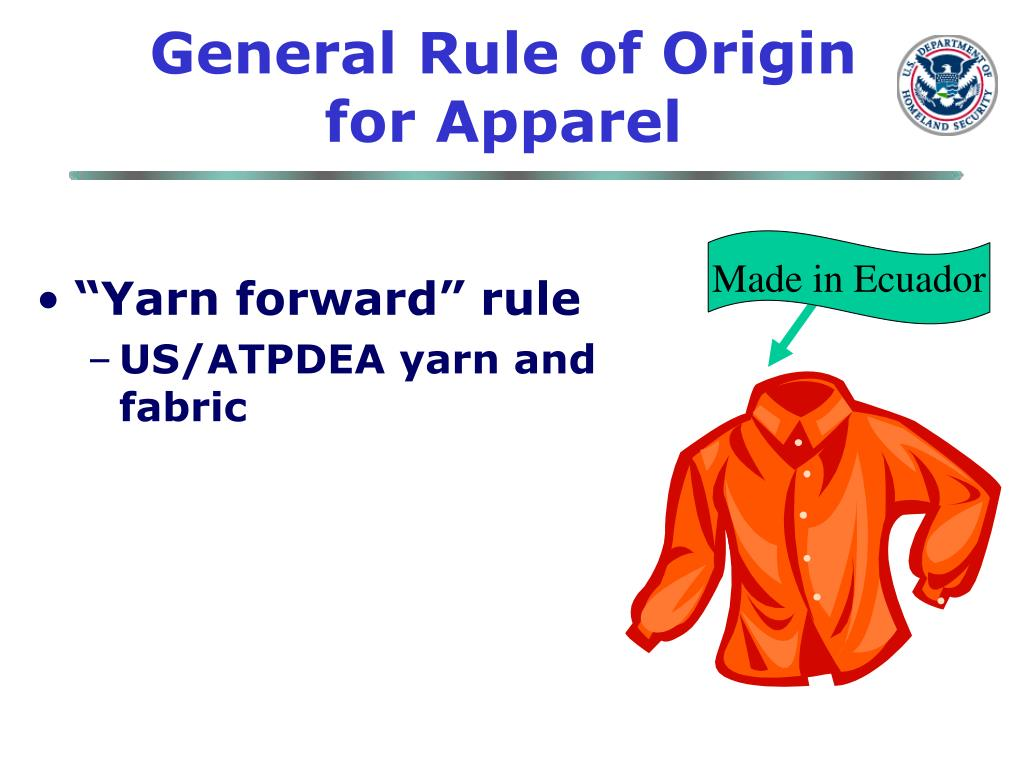 General Rule of Origin