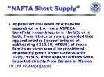 nafta short supply