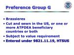 preference group g