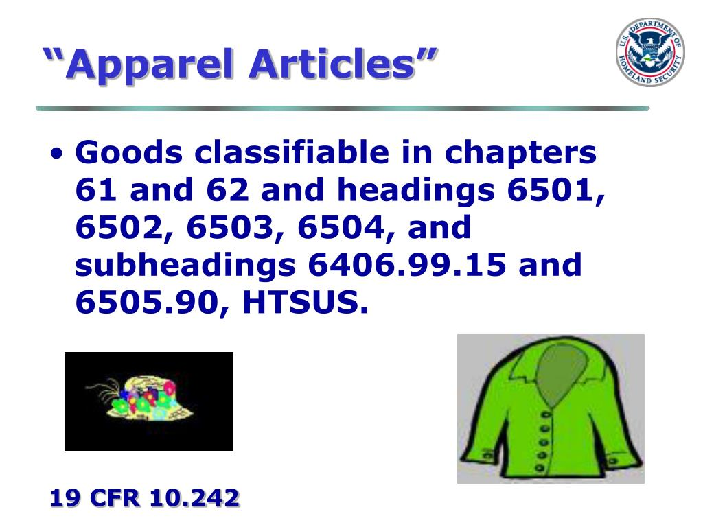 """Apparel Articles"""