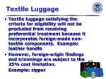 textile luggage