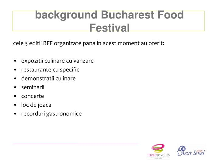 background Bucharest Food Festival
