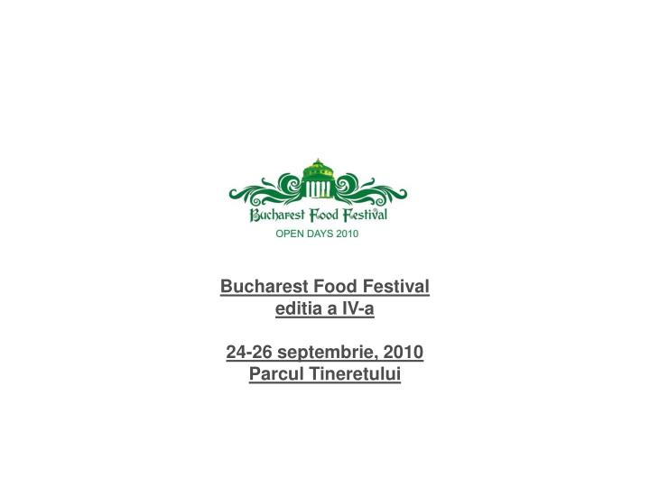 Bucharest Food Festival
