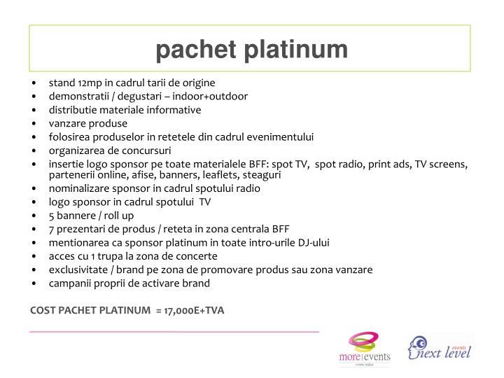 pachet platinum