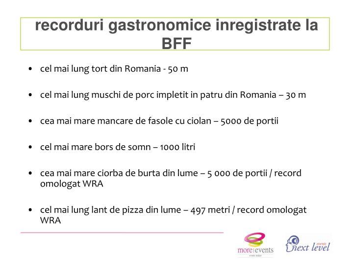 recorduri gastronomice inregistrate la BFF