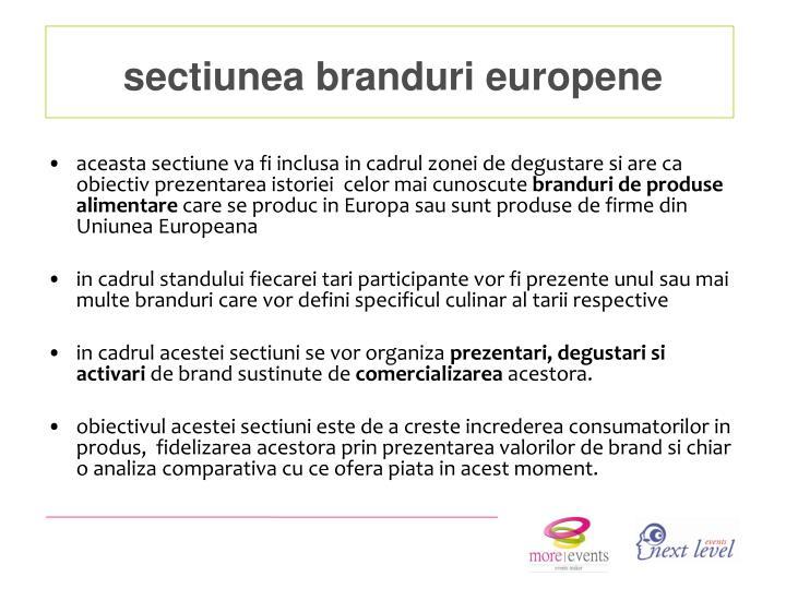 sectiunea branduri europene