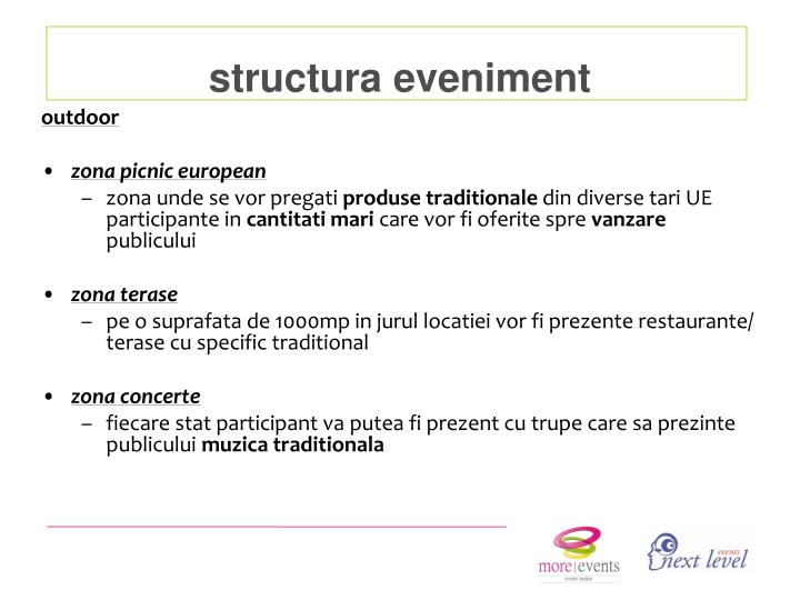 structura eveniment
