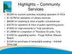 highlights community services