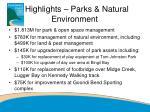 highlights parks natural environment