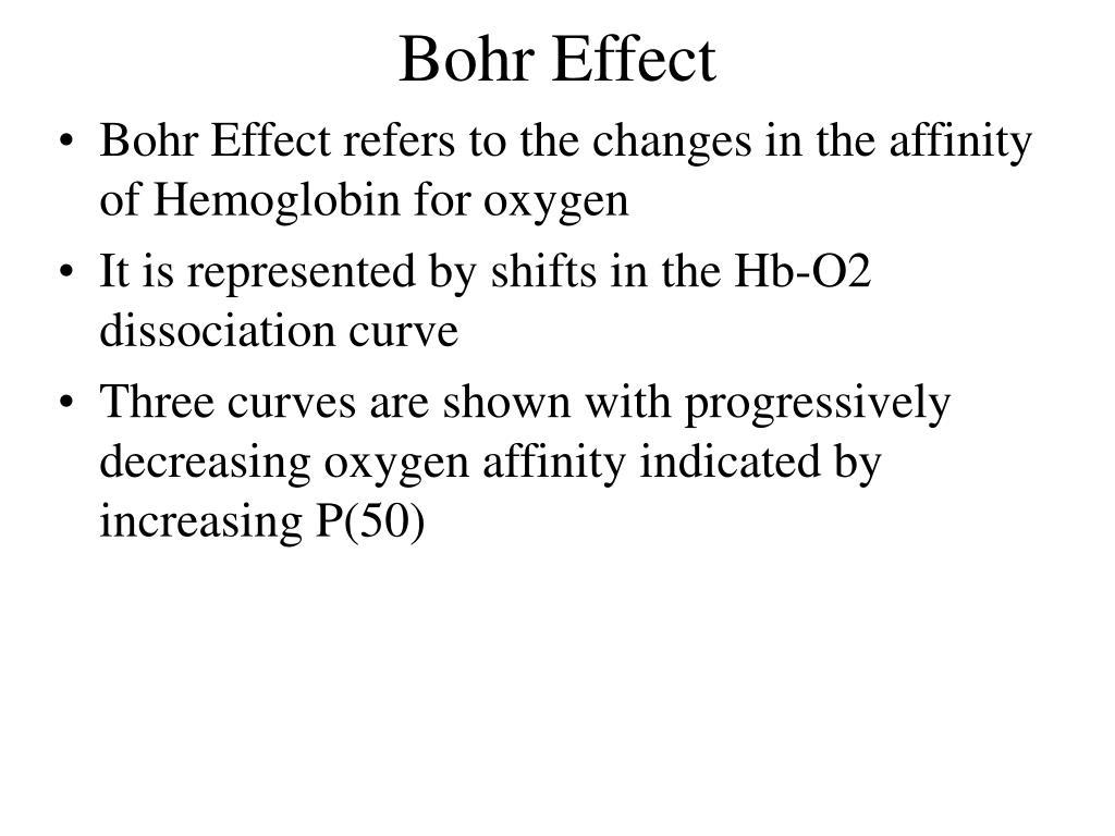 Bohr Effect