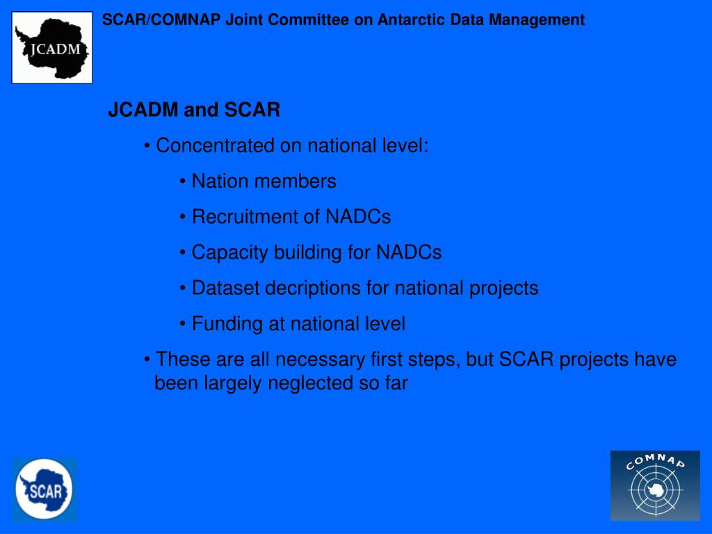 SCAR/COMNAP Joint Committee on Antarctic Data Management