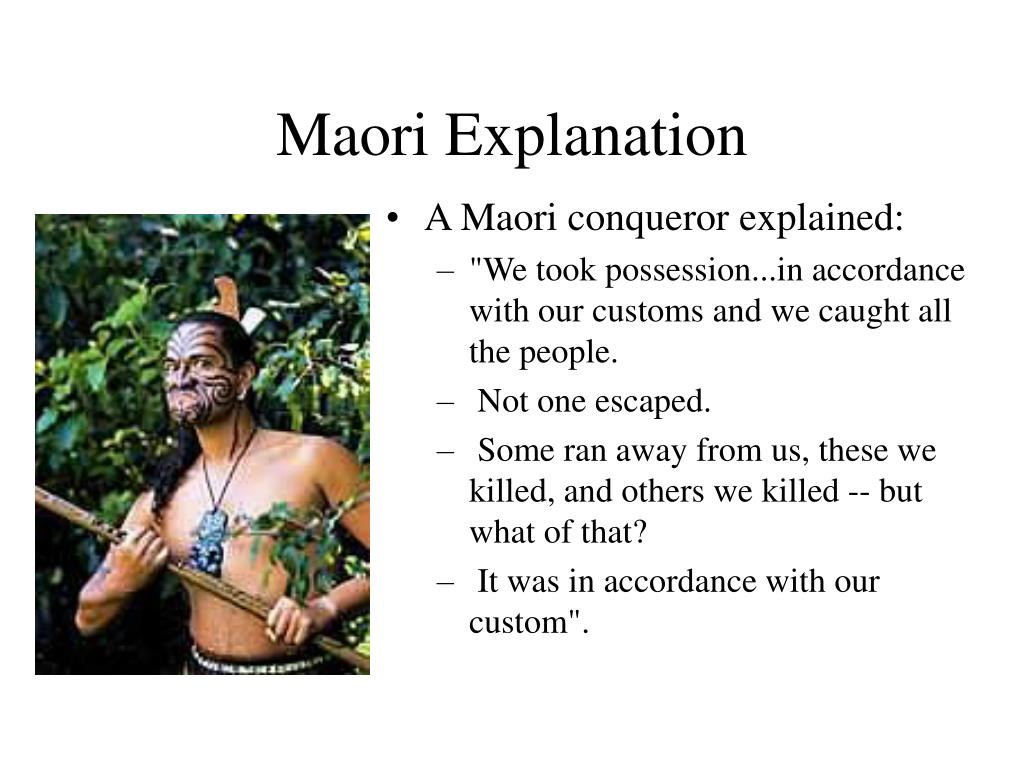 Maori Explanation