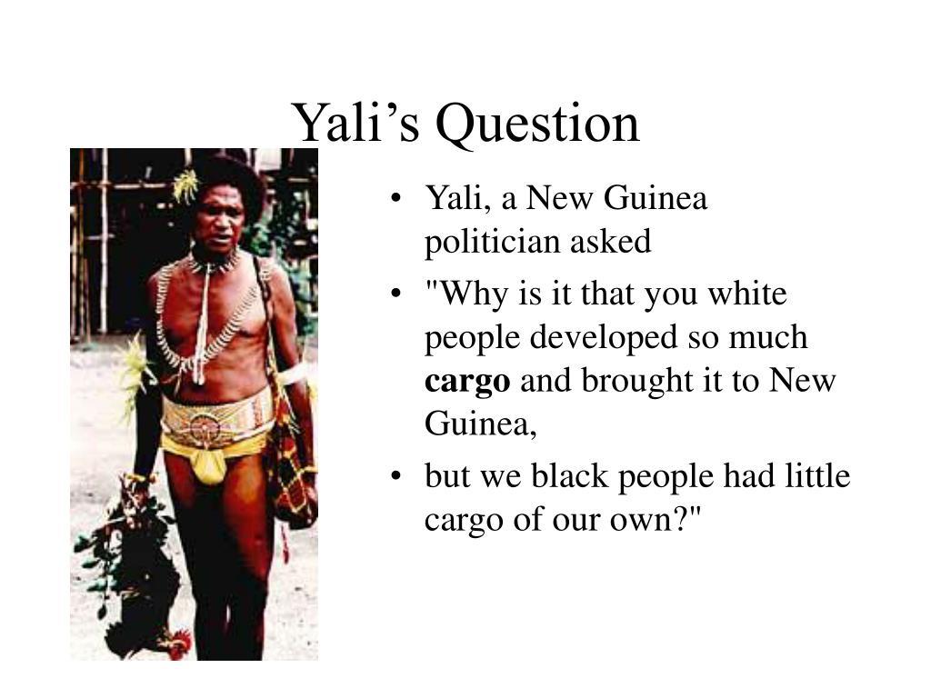 Yali's Question