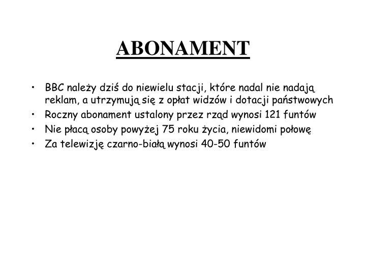 ABONAMENT