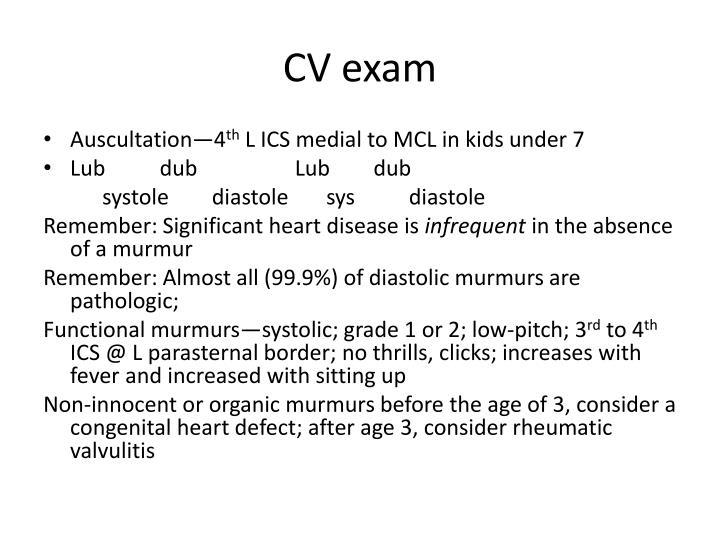 CV exam