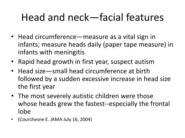 Head and neck—facial features