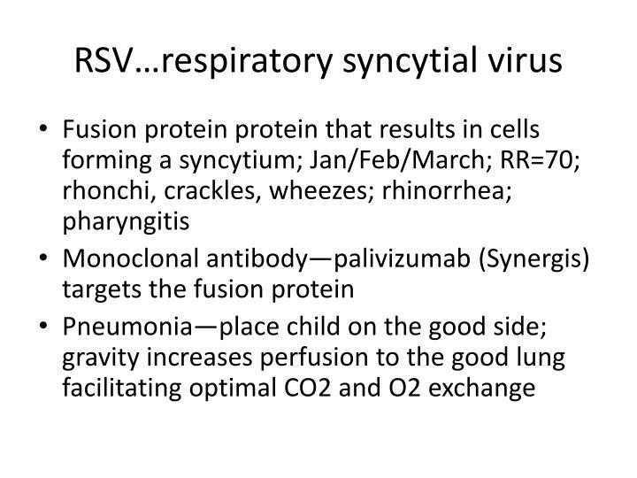 RSV…respiratory syncytial virus