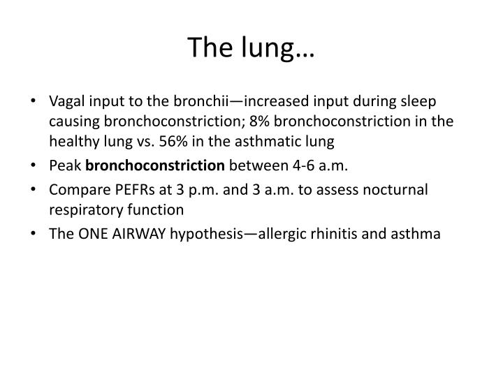 The lung…