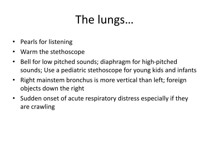 The lungs…