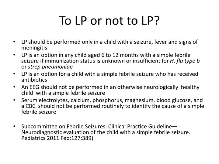 To LP or not to LP?